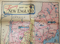 Touring Map Of New England C 1926. Incert From The New York Sunday News