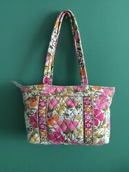 Vera Bradley Quilted Double Handled Small Tote Retired Floral print EUC $10.00