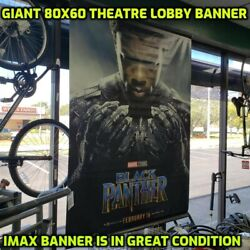 80x60 Marvel Official Black Panther Movie Theatre Lobby Vinyl Banner