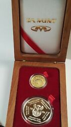 2010 South Africa Fifa World Cup Gold 2 Rand Proof 2 Crown Silver Set Box Coa