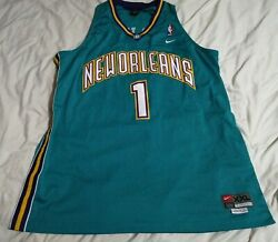 New Orleans Hornets Nike Baron Davis Xxl Teal Green Jersey Stitched
