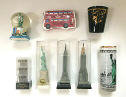 Vintage 1999 Statue Of Liberty New York Travel Souvenirs - Mix Lot Of 8 - Rare