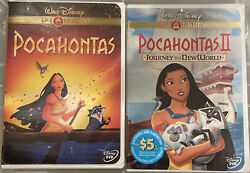 Pocahontas And Pocahontas Ii Both Dvds New/sealed Gold Collection Disney