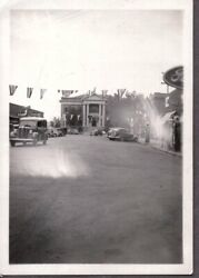 Vintage Photograph 1930's Street Scene Gas Pumps Signs Casper Wyoming Old Photo