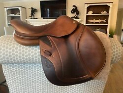 """15.5"""" Cwd Se02 Calf French Close Contact Child/pony Jumping Saddle-2012 Model."""