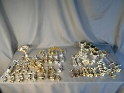 Lot Of 61 Vintage Metal And Plastic Trophy Toppers - Softball Bowling Skating