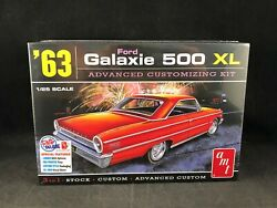 Amt 1963 Ford Galaxie 500 Xl 125 Scale Plastic Model Kit 1186 Factory Sealed