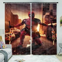 Spiderman Changes Neat 3d Curtain Blockout Photo Printing Curtains Drape Fabric