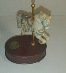 Vintage Geo Lefton Carousel Collection Horse Music Box The Sting 1992