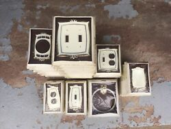 Vintage Donner Bathroom Hardware Accessories Lot Of 39, Plates, Rings, Etc, Usa