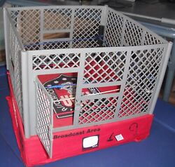 Awa Steel Cage 1980s American Wrestling Association Ring Play Set 32 Figures Etc
