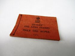 Rare Vintage King George V One Anna Stitched Stamp Booklet Made In India Old F