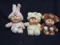 Rare 3 Cabbage Patch Kids 2008 25 Anniversary 7 Dolls In Costumes So Cute