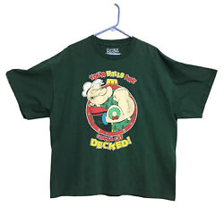 """Popeye """"your Halls Are Gonna Get Decked """" Men's 2xl/xxl Green Christmas T-shirt"""