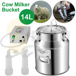14l Electric Portable Goat Milking Machine With 2 Teat Cups