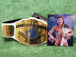 Wwe Wwf Intercontinental Title Belt Full Size Signed By Marc Mero And 8x10 Photo