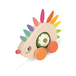 Janod Zigolos Pull Along Hedgehog Early Learning And Motor Skills Toy Made Of...