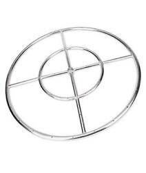 24 Inch Round Fire Pit Burner Ring For Natural Gas Or Propane, 304 Series
