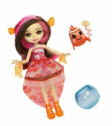 Enchantimals Clarita Clownfish Doll 6in With Color-changehair And Cackle Wat...