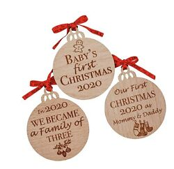 Heartand039s Sign Set Of 3 Babys First Christmas Ornament 2020   My First Christma...