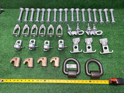 38 Qty Huge Lot- Hubbell Bb155a Auxiliary Eye Bolt Chance Gh6ils Brass Hooks