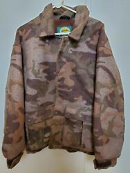 Cabela's Outfitters Wool Series Dry Plus Camouflage Hunting Camo Jacket Coat L
