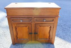 Antique Farmhouse Lift Top Dry Sink For Kitchen / Pantry