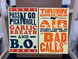 2 Poster Set. Insult Posters But Fun Sports 2006 Hatch Show Print Poster