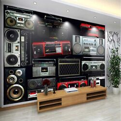 Red Edge Clip Simple 3d Full Wall Mural Photo Wallpaper Printing Home Kids Decor