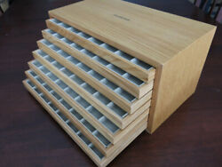 Luminor Wooden Strap Holder Drawer Factory Display Holds 56 Straps Rare