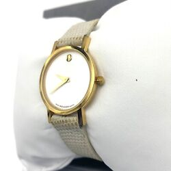 Movado Museum Classic Ladies Watch White Dial Vintage Rare Discontinued Model