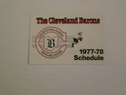 1977/78 Nhl Cleveland Barons Rare Schedule