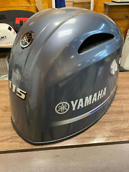 2014 Yamaha F 115 Hp 4 Stroke Outboard Motor Top Cowl Cover Hood Freshwater Mn