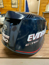2008 Evinrude E-tec 150 Hp 2 Stroke Outboard Top Cowl Hood Cover Freshwater Mn