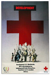 American Red Cross Youth Development Vintage Poster