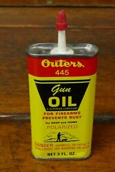 Vintage Outers 445 Gun Oil 3oz Handy Oiler Oil Can - Empty - Hunting Graphics