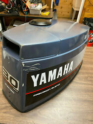 1990 Yamaha 30 Hp 3 Cyl 2 Stroke Outboard Hood Top Cowl Cover Freshwater Mn