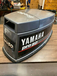 1993 Yamaha 50 Hp 3 Cyl 2 Stroke Outboard Hood Top Cowl Cover Freshwater Mn