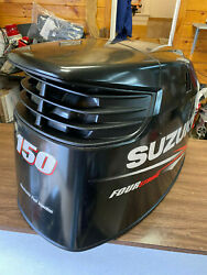 2010 Suzuki Df 150 Hp 4 Stroke Outboard Engine Top Cowl Cover Hood Freshwater Mn