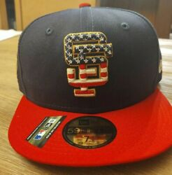 Sf Giants New Era 4th Of July Collection 59fifty Hat Size 7 3/8