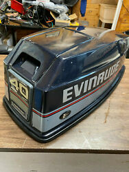 1992 Evinrude 40 50 Hp 2 Stroke Outboard Top Cowl Hood Cover Freshwater Mn