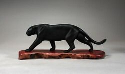 Black Panther Jaguar Sculpture By John Perry 15in Long New Direct From Studio