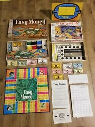 2 Vintage Easy Money Board Game 1974 And Family Fued 2nd Edition 1977 Complete