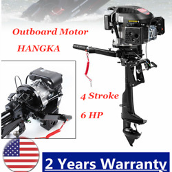 4 Stroke 6 Hp Outboard Motor Fishing Boat Engine W/ Air Cooling S 3.75kw Hangkai