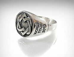 Rare Limited Woman Leonard Cohen World Tour 2013 Solid Sterling Silver Ring 925