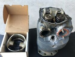 Steel Lycoming Wide Deck Cylinder W/ Rocker Shaft And Piston O-360 O-540 Core