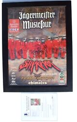 2004 Slipknot Jagermeister Music Tour Vip Signed Autographed Poster Badge W/ Coa
