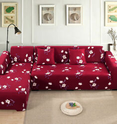 1/2piece Sofa Cover Elastic For Living Room Office Decor 2 Pieces L-shaped