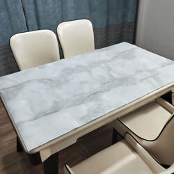 Soft Glass Tablecover Not Transparent Marble Pattern Pvc Table Cloth Home Decor