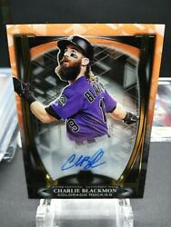 2019 Topps Tribute Charlie Blackmon Orange Auto 01/25 See Pictures On Condition